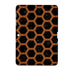 Hexagon2 Black Marble & Rusted Metal (r) Samsung Galaxy Tab 2 (10 1 ) P5100 Hardshell Case  by trendistuff