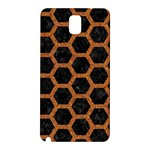 HEXAGON2 BLACK MARBLE & RUSTED METAL (R) Samsung Galaxy Note 3 N9005 Hardshell Back Case Front