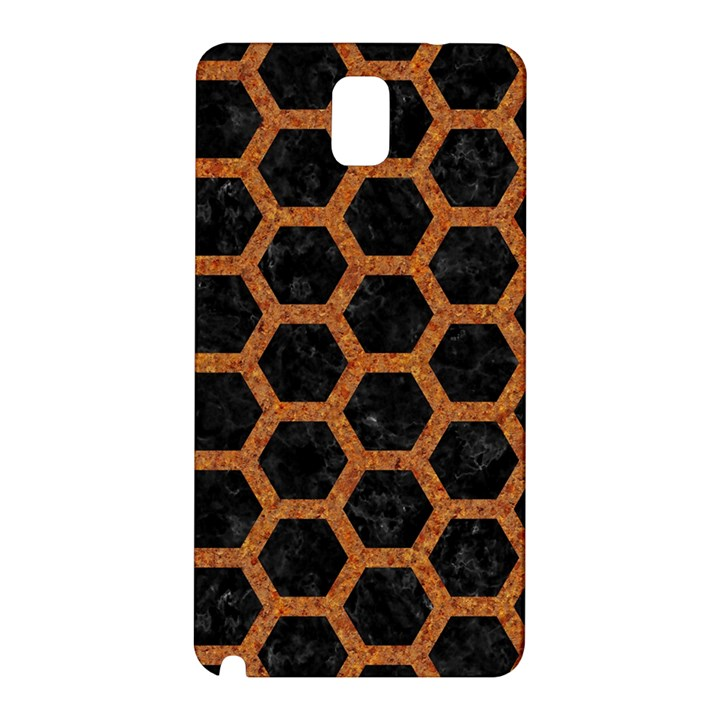 HEXAGON2 BLACK MARBLE & RUSTED METAL (R) Samsung Galaxy Note 3 N9005 Hardshell Back Case