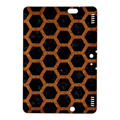 Hexagon2 Black Marble & Rusted Metal (r) Kindle Fire Hdx 8 9  Hardshell Case by trendistuff