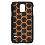 HEXAGON2 BLACK MARBLE & RUSTED METAL (R) Samsung Galaxy S5 Case (Black) Front