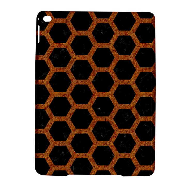 HEXAGON2 BLACK MARBLE & RUSTED METAL (R) iPad Air 2 Hardshell Cases