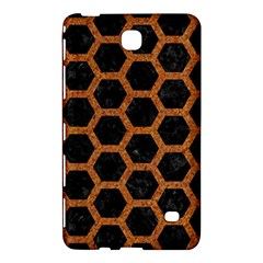 Hexagon2 Black Marble & Rusted Metal (r) Samsung Galaxy Tab 4 (8 ) Hardshell Case  by trendistuff