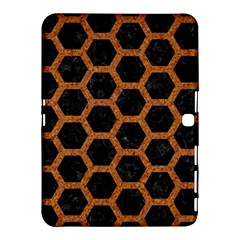 Hexagon2 Black Marble & Rusted Metal (r) Samsung Galaxy Tab 4 (10 1 ) Hardshell Case  by trendistuff
