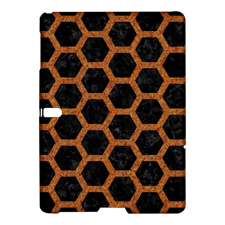 HEXAGON2 BLACK MARBLE & RUSTED METAL (R) Samsung Galaxy Tab S (10.5 ) Hardshell Case