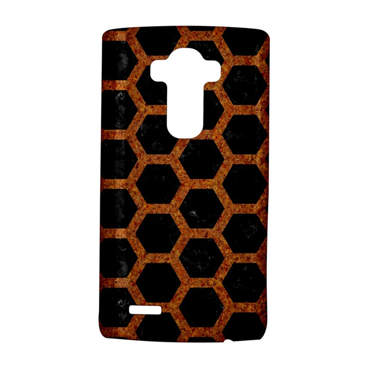 HEXAGON2 BLACK MARBLE & RUSTED METAL (R) LG G4 Hardshell Case