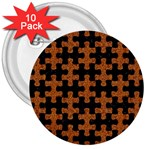 PUZZLE1 BLACK MARBLE & RUSTED METAL 3  Buttons (10 pack)  Front