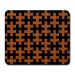 PUZZLE1 BLACK MARBLE & RUSTED METAL Large Mousepads Front