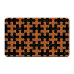 PUZZLE1 BLACK MARBLE & RUSTED METAL Magnet (Rectangular) Front