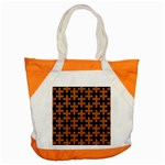 PUZZLE1 BLACK MARBLE & RUSTED METAL Accent Tote Bag Front