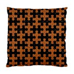 PUZZLE1 BLACK MARBLE & RUSTED METAL Standard Cushion Case (One Side) Front