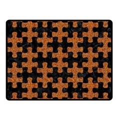 Puzzle1 Black Marble & Rusted Metal Fleece Blanket (small)