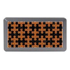 Puzzle1 Black Marble & Rusted Metal Memory Card Reader (mini)