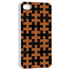 Puzzle1 Black Marble & Rusted Metal Apple Iphone 4/4s Seamless Case (white) by trendistuff