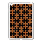 PUZZLE1 BLACK MARBLE & RUSTED METAL Apple iPad Mini Case (White) Front