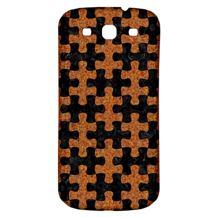 PUZZLE1 BLACK MARBLE & RUSTED METAL Samsung Galaxy S3 S III Classic Hardshell Back Case