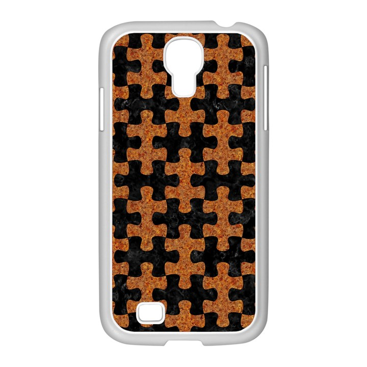 PUZZLE1 BLACK MARBLE & RUSTED METAL Samsung GALAXY S4 I9500/ I9505 Case (White)