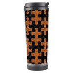 PUZZLE1 BLACK MARBLE & RUSTED METAL Travel Tumbler Right