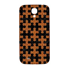 Puzzle1 Black Marble & Rusted Metal Samsung Galaxy S4 I9500/i9505  Hardshell Back Case by trendistuff