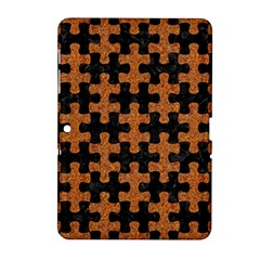 Puzzle1 Black Marble & Rusted Metal Samsung Galaxy Tab 2 (10 1 ) P5100 Hardshell Case