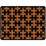 PUZZLE1 BLACK MARBLE & RUSTED METAL Double Sided Fleece Blanket (Large)  80 x60 Blanket Back