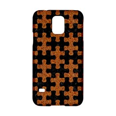 Puzzle1 Black Marble & Rusted Metal Samsung Galaxy S5 Hardshell Case