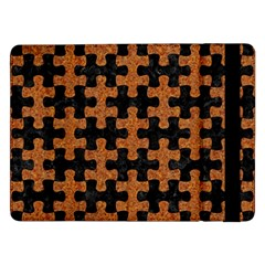 Puzzle1 Black Marble & Rusted Metal Samsung Galaxy Tab Pro 12 2  Flip Case by trendistuff