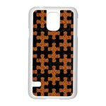 PUZZLE1 BLACK MARBLE & RUSTED METAL Samsung Galaxy S5 Case (White) Front