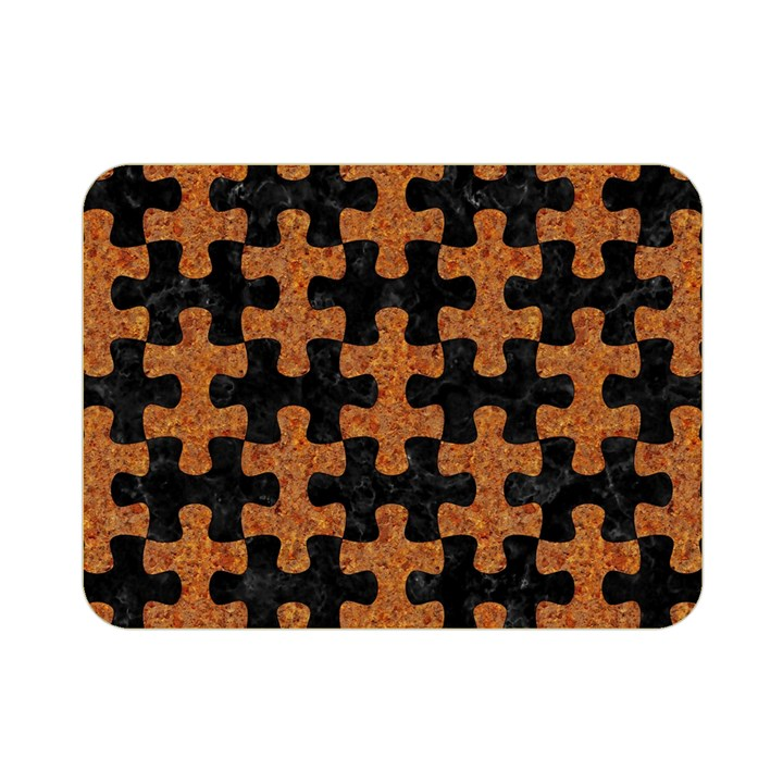 PUZZLE1 BLACK MARBLE & RUSTED METAL Double Sided Flano Blanket (Mini)