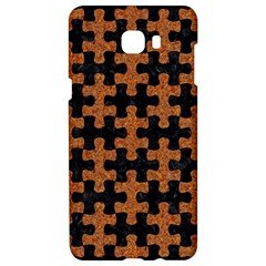 Puzzle1 Black Marble & Rusted Metal Samsung C9 Pro Hardshell Case  by trendistuff