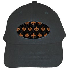 ROYAL1 BLACK MARBLE & RUSTED METAL Black Cap
