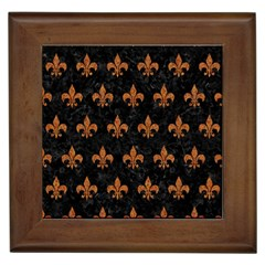 ROYAL1 BLACK MARBLE & RUSTED METAL Framed Tiles