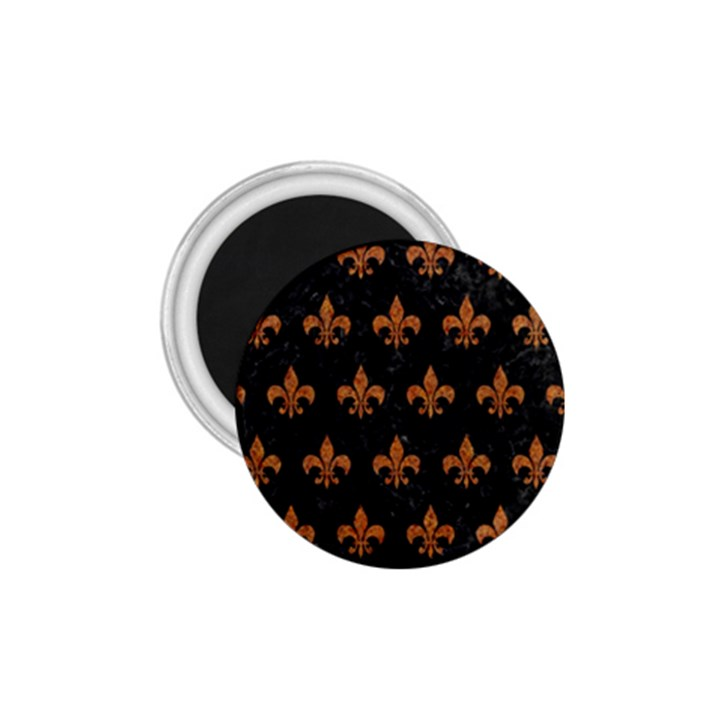 ROYAL1 BLACK MARBLE & RUSTED METAL 1.75  Magnets