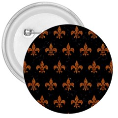 ROYAL1 BLACK MARBLE & RUSTED METAL 3  Buttons