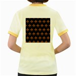 ROYAL1 BLACK MARBLE & RUSTED METAL Women s Fitted Ringer T-Shirts Back