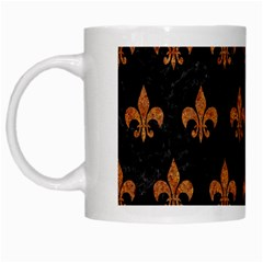 ROYAL1 BLACK MARBLE & RUSTED METAL White Mugs