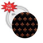 ROYAL1 BLACK MARBLE & RUSTED METAL 2.25  Buttons (100 pack)