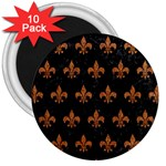 ROYAL1 BLACK MARBLE & RUSTED METAL 3  Magnets (10 pack)  Front