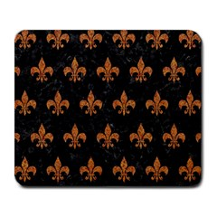 ROYAL1 BLACK MARBLE & RUSTED METAL Large Mousepads