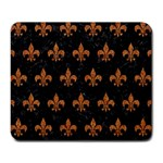 ROYAL1 BLACK MARBLE & RUSTED METAL Large Mousepads Front