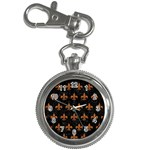 ROYAL1 BLACK MARBLE & RUSTED METAL Key Chain Watches