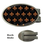 ROYAL1 BLACK MARBLE & RUSTED METAL Money Clips (Oval)