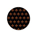 ROYAL1 BLACK MARBLE & RUSTED METAL Rubber Round Coaster (4 pack)  Front