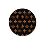 ROYAL1 BLACK MARBLE & RUSTED METAL Magnet 3  (Round) Front