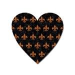ROYAL1 BLACK MARBLE & RUSTED METAL Heart Magnet