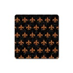 ROYAL1 BLACK MARBLE & RUSTED METAL Square Magnet Front