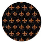 ROYAL1 BLACK MARBLE & RUSTED METAL Magnet 5  (Round)