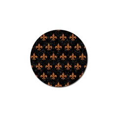 ROYAL1 BLACK MARBLE & RUSTED METAL Golf Ball Marker