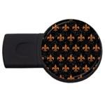 ROYAL1 BLACK MARBLE & RUSTED METAL USB Flash Drive Round (2 GB)