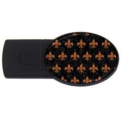 Royal1 Black Marble & Rusted Metal Usb Flash Drive Oval (2 Gb) by trendistuff